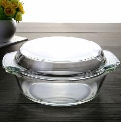 Hohes Borosilicate Glass Casserole mit Lid