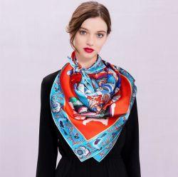 100% soie Hijab d'impression personnalisée Lady Fashion Foulard en Soie