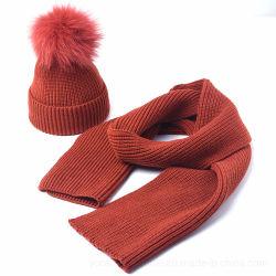Reeksen van de Sjaal van Beanie van het Bont van de Manier van de winter de Warme Valse