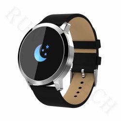 Q8 Smart bracelete de aço cor OLED Moda Tela Rastreador de fitness da pressão arterial assistir