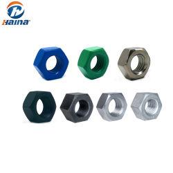 ASTM A194 2h um563 DIN934 DIN6923 cubas de aço galvanizado as porcas das tampas das porcas de flange de zinco Porcas Soldadas Square contraporcas de nylon Porcas Sextavadas Pesado