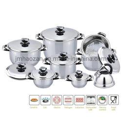 16 morceaux Ustensiles de cuisine en acier inoxydable Set-Royal marque avec couvercle En acier inoxydable pour tous les poêles