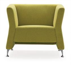 Populares de la oficina de diseño moderno sofá las patas de acero con bastidor de madera maciza mobiliario para interiores