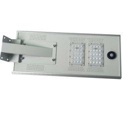 40W tous dans une rue lumière LED solaire avec Rue lumière solaire monocristallin Contrôle intelligent IRP