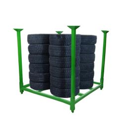 Lager-Logistik HochleistungsQuakeproof stapelbares Gabelstapler-Metallstahlgefäß-Speicher-Rahmen-Ladeplatte Nestainer Zahnstange