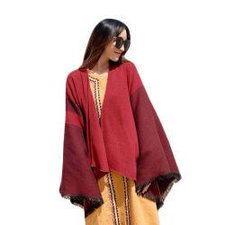 No Verão espessadas manto Xale Vermelho lenço quente do sexo feminino