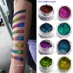 De in het groot Decoratie van de Schoonheid van de Make-up van het Pigment van Schoonheidsmiddelen schittert Pigment van het Kameleon van de Oogschaduw van de Schoonheidsmiddelen van het Etiket van de Oogschaduw het Privé Bruine