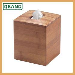 Suporte da Caixa de tecido de bambu porta tubo Kapkin dispensador de caso de papel de bombeamento para Home