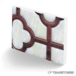 Design em acrílico Folha de alabastro parede para uso decorativo