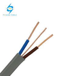 유연한 평면 케이블 술장수 편평한 TPS 전기 PVC 철사 3 코어 2+E Solid1.5mm 2.5mm