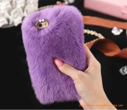 Заяц мягкий волос гладкой мех сенсорного экрана мобильного телефона случае противоударная защитные