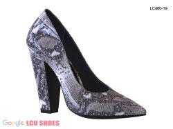 Les femmes talons pompes métalliques haute bloc fait office de la TOE Shoes
