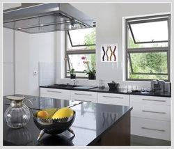 Het hoogste Venster van het Glas van het Aluminium Enige Ventilatie Gehangen