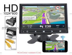 Video senza fili dell'affissione a cristalli liquidi di WiFi di interconnessione dell'automobile da 9 pollici con il telefono mobile con l'input dell'interfaccia del VGA avoirdupois di HDMI
