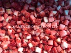 IQF trocitos de fresas, frutillas IQF cubos IQF, Rodajas de fresas, frutillas IQF Cortes,Fresa,el puré de fresas congeladas con el azúcar,IQF Bayas