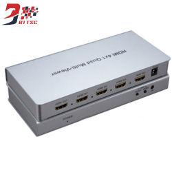 4X1 Multi-Viewer HDMI Controle infravermelho com comutador perfeita