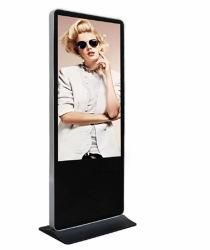 Publicidad LCD en el suelo compacto reproductor Totem 50 pulgadas LCD Digital Signage 1080P HD Multimedia Publicidad