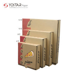 De beschikbare Doos van de Pizza van het Voedsel van de Fluit E van het GolfKarton Pakket Afgedrukte
