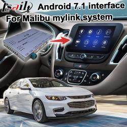 Android 7.1 навигационного GPS для автомобилей Шевроле Малибу видео интерфейсный блок 2017 GM система дополнительно Carplay Intellink Mylink