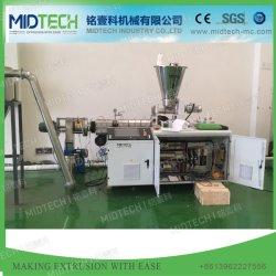 De plastic Lopende band van de Uitdrijving van het Recycling van de Granulator van het Gezicht van de Matrijs PVC/SPVC/WPC Hete Scherpe