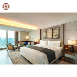 Коммерческий отель спальня мебель деревянная кровать с ночными подставки