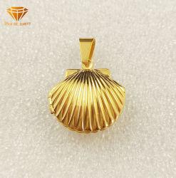 Bijoux Argent Bijoux en acier inoxydable coquille de forme de Collier Pendentif en acier inoxydable SPT7222