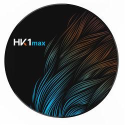 Venda por grosso de TV Android Smart Caixa de Decodificador 4K Media Player HK1 Max Rk3318 4G 32g Android Market 9.0