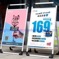 С одной стороны подставки для цифровой рамки для использования вне помещений алюминиевых портативный рекламных плакатов подставки