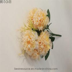 Fiori di seta della dalia bianca all'ingrosso floreale artificiale per la decorazione di cerimonia nuziale