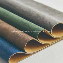 L'abrasion doux colorés résistant pour les sacs en cuir de PVC en daim et des meubles Président de la Cantine