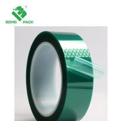 200c de Zelfklevende Band op hoge temperatuur van de Film van de Polyester van het Huisdier Groene