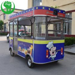 大きい食糧バストラックのスタイルを作っているイギリスの食糧バスかアートワークのヨーロッパ人