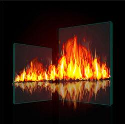 Prix de gros 1 HEURE 2 HEURES nominale de 3 heures de portes sans cadre résistant au feu de Windows 6 mm de construction de 8 mm de verre borosilicaté résistant au feu