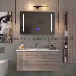 Nessuna vanità del Governo di stanza da bagno del compensato della lacca con lo specchio del LED