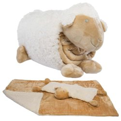 Micro de couleur unie en relief le vison bébé oreiller de forme une couverture et de l'animal