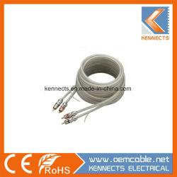 Ke Z8 OFC кабель HiFi металлические 2RCA 2 кабель RCA