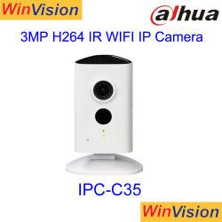 Dahua 3MP ИК мини беспроводной сети Wifi IP-камера для видеонаблюдения Ipc-C35