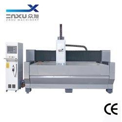 Zxx-C Serie CNC-Glasmaschinen-Wasserstrahlmaschinerie für das bohrender Ausschnitt-reibende Prägepolnisch, Stich CNC Glasbearbeitung-Mitte schnitzend