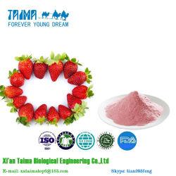 Aprovação ISO 100% puro Freeze-Dried orgânicos naturais de pó de morango, pó de Morango Freeze-Dried de alta qualidade