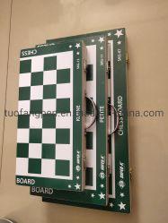 Jogo de Xadrez Premium no caso de Madeira