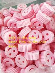Polyester-Lächeln-Gesichts-Form-Küche-Reinigungs-Teller-Schwamm