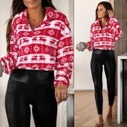 Última moda casual moda Pulôver Velo Camisola de Natal
