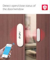 지능적인 가정 장치 Tuyasmart APP 원격 제어 자석 문 Windows 도난 경보기 무선 반대로 도둑질 WiFi 문 센서