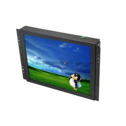 8インチの4:3 TFT LCDの開いたフレームCCTVの接触モニタを収容する金属