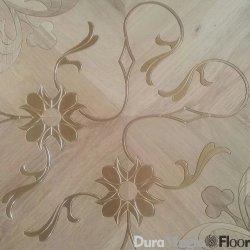 فنية أرضيّة, يهندس أرضيّة خشبيّة, أرضيّة أرضيّة تطعيم مع طلاء لّك صورة زيتيّة ومعدنة