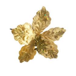 Natal Flores decorativas verdadeiro toque de Seda Artificial Flor de plástico