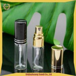 Zoll Ihr Entwurfs-umweltfreundliches Aluminiumsilber 5ml Wholesale Glasduftstoff-Spray-Flaschen