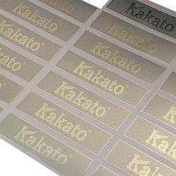 金属のニッケル材料およびカスタマイズされたニッケルのステッカーの電気めっきのラベル