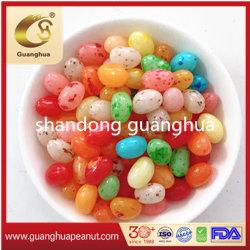 Delicioso sabor a fruta dulce colorido Jommy Jelly Bean de caramelo suave de forma de diamante de buena calidad