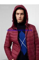 재고 의복 남자 Hoodie를 가진 옥외 겨울 가벼운 다운 면 재킷